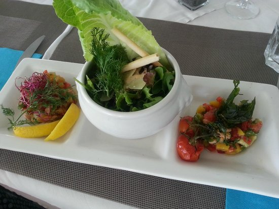 Star Plage : vegetables first dish