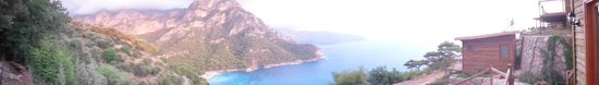 Faralya, Turkije: view from the deck