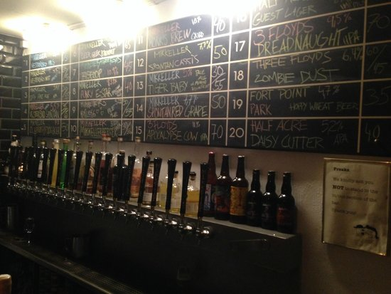 Mikkeller Bar: The selection of beers