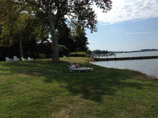 Sandaway Waterfront Lodging: Resort lawn