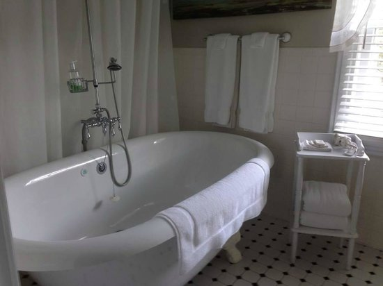 Lindenhof Bed and Breakfast : Champagne Massage tub