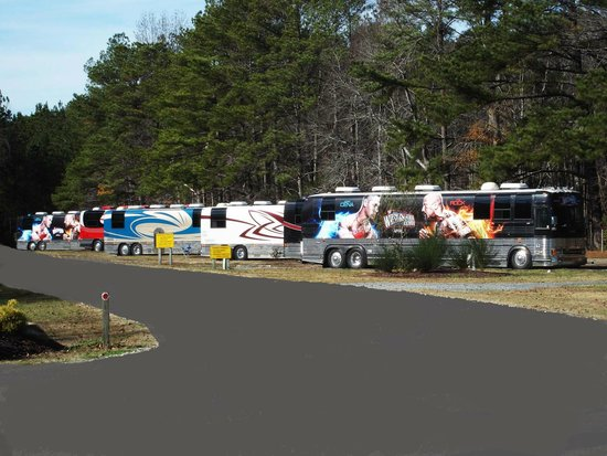 Fayetteville RV Resort & Cottages: Millionaire row