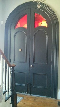 Love this old front door inside the heritage home retail