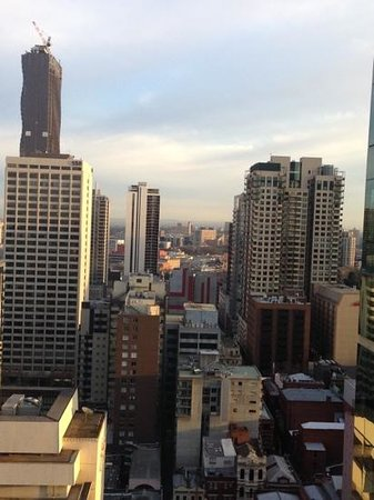 Citadines on Bourke Melbourne: view from studio executive 2501