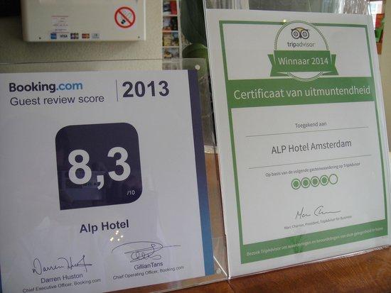 Alp Hotel Amsterdam: Puntuaciones