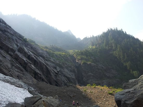 Big Four Ice Caves: View from the waterfalls.