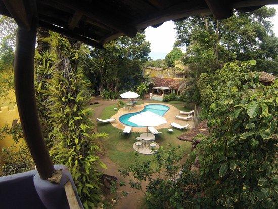 Pousada Raízes do Brasil: Vista piscina