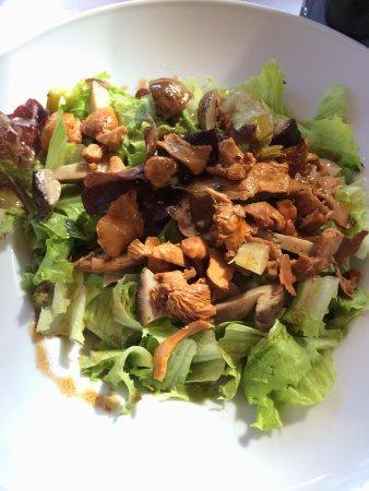Restaurant El Pigal Casa Kiko: Ensalada con trio de boletus