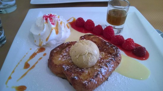 LA DOLCEZZA : Le dessert du chef (brioche façon pain perdu)