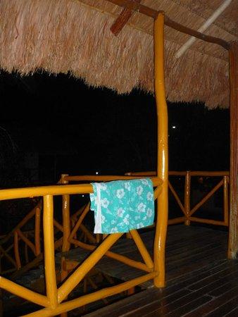 Chicanna Ecovillage Resort: auf der Terasse