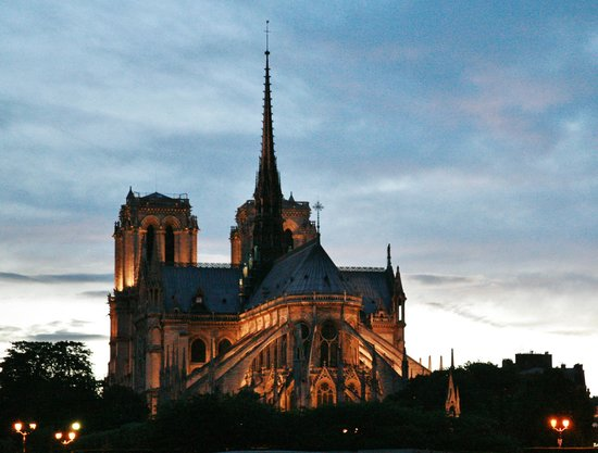 Agora Saint Germain: Notre Dame from a cruise minutes from hotel