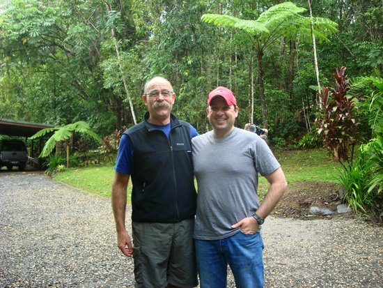 Red Mill House in Daintree: Andrew on the left