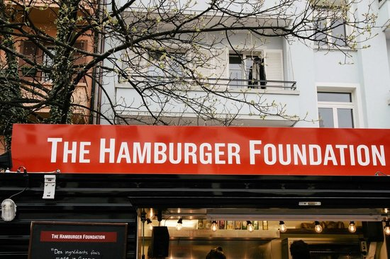 The Hamburger Foundation : Truck photo, in front of the restaurant!