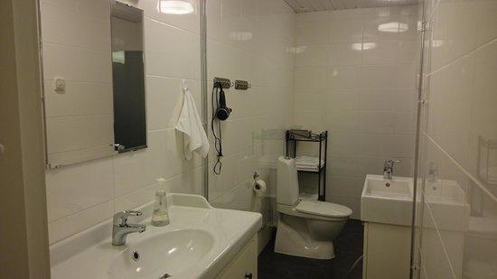 Hotel Pusa : Clean and spacious bathroon