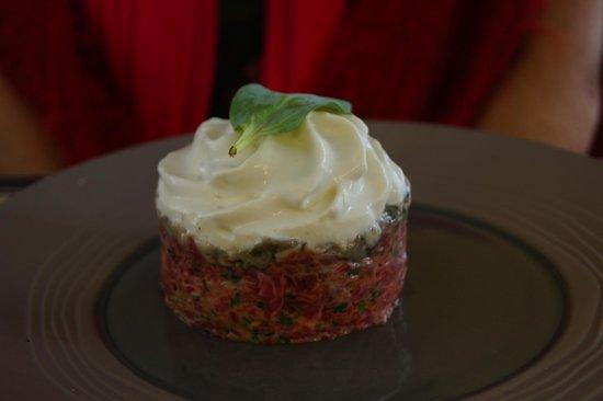 Boeuf Patate : tartare Boeuf et Huître