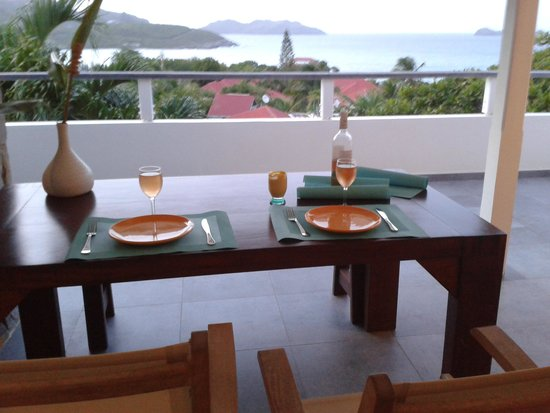 Hotel Le Village St Barth : View from the terrace