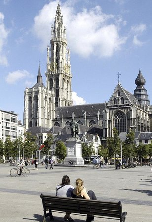 Holiday Inn Express Antwerp City North: View on the cathedral from the Groenplaats