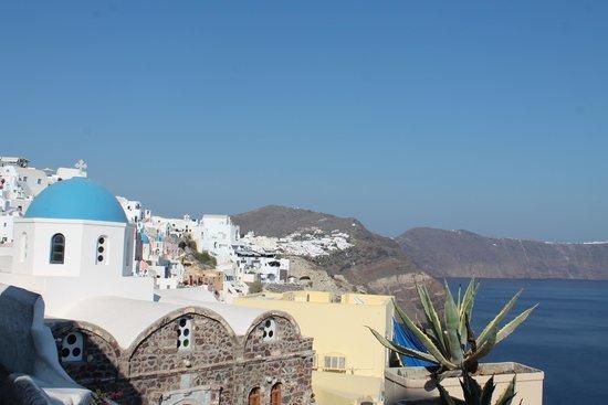 Zoe-Aegeas Traditional Houses : vue de la terrasse