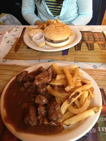 Wiltondale, Canada: moose burger & moose stew (aka canned moose)