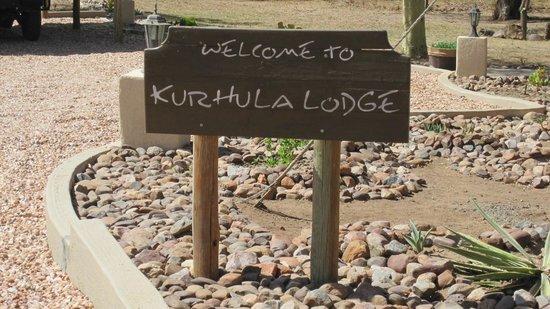 Kurhula Wildlife Lodge: Sign board