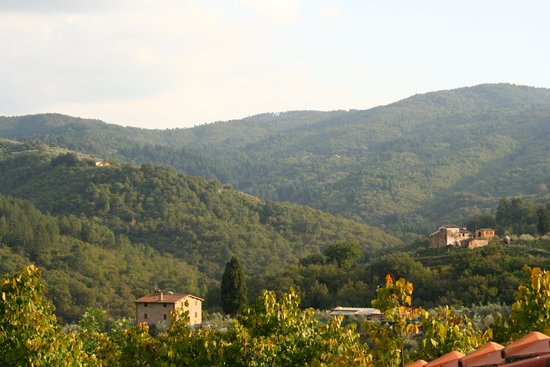 Fontebussi Tuscan Resort: amazing views from the private terrace