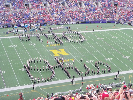 M&T Bank Stadium : Script Ohio in Baltimore