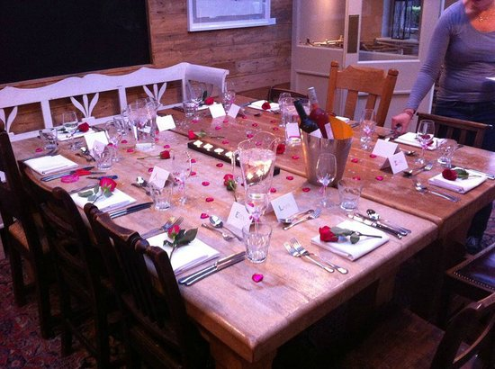 The Museum Inn: Our table