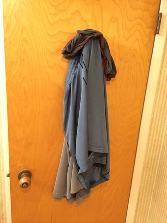 Americas Best Value Inn Moline : Checked into room. Found clothing on the back of the bathroom door. Nice job cleaning!