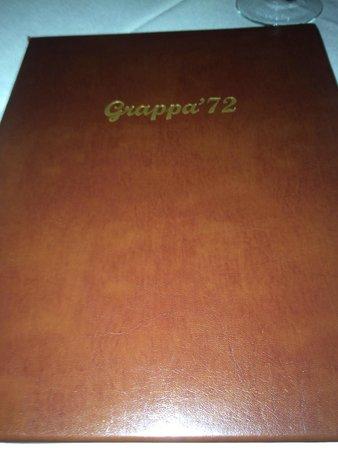 Grappa '72 Ristorante: Menu