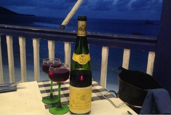 Restaurant le Soleil : Fine French wine with a gorgeous view
