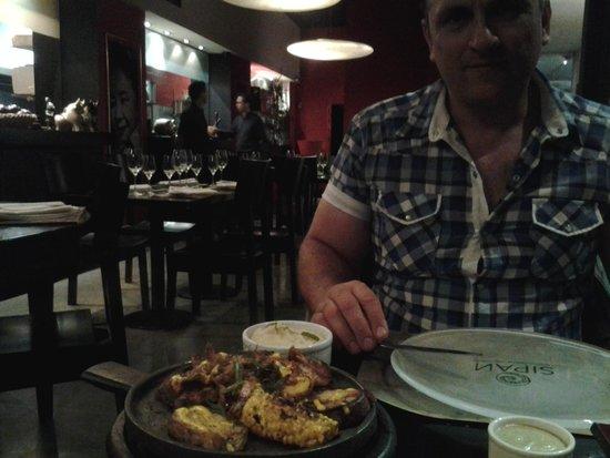 Sipan: marcelo con mariscos a la parrilla