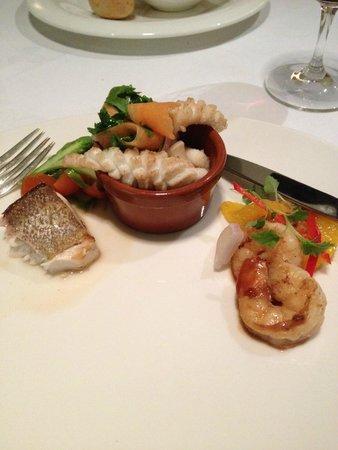 Terrace Restaurant: Seafood sampler entree