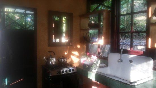 Monkey Tree Casitas : Kitchen in morning sun