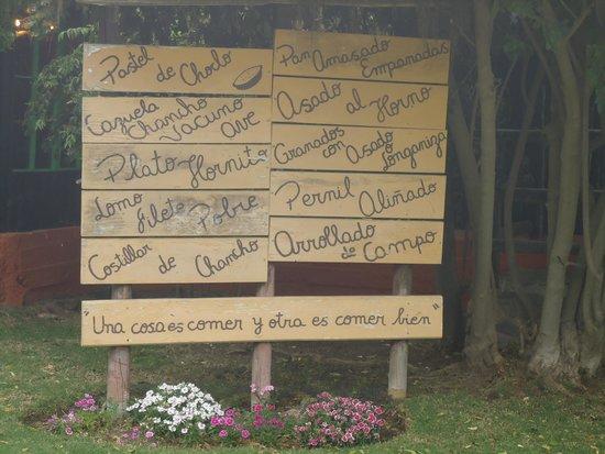 Los Hornitos de Curacavi: Cardápio