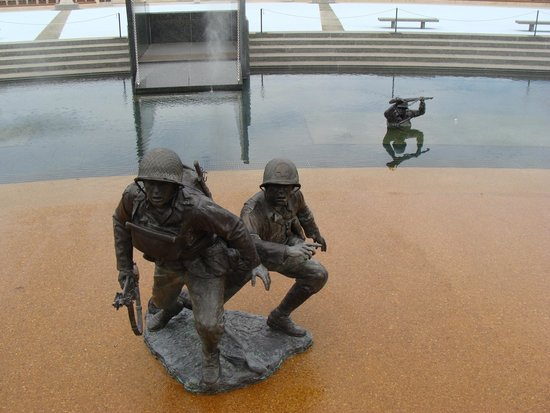 National D-Day Memorial: Normandy beach depiction