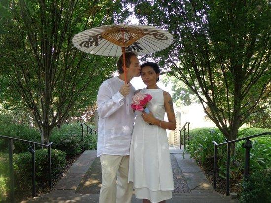 Dallas Arboretum & Botanischer Garten: our wedding at the arboretum