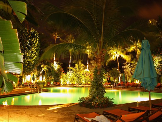 Essensia Restaurant & Lounge: The pool out back