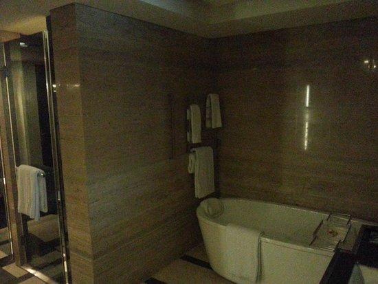 Hilton Beijing Wangfujing: Bath and shower