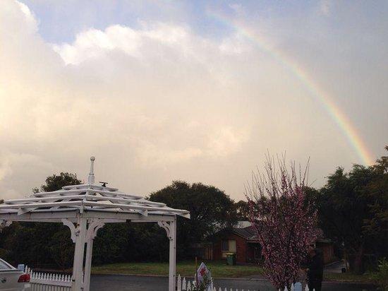 Lanterns Retreat: Rainbow at the Front Door