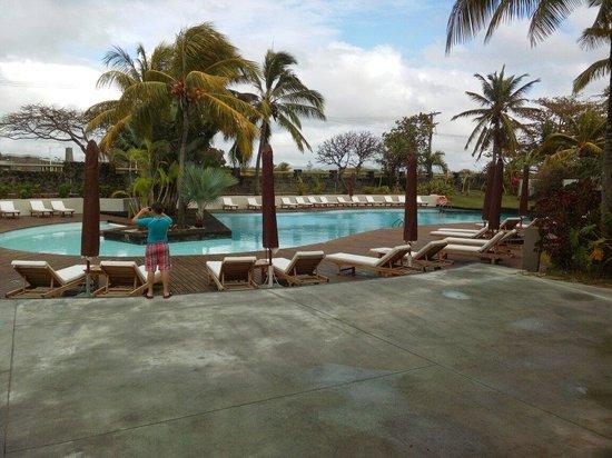Solana Beach: Piscine du solana, tôt le matin après une petite averse...