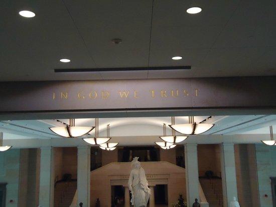 U.S. Capitol Visitor Center : In God we trust.