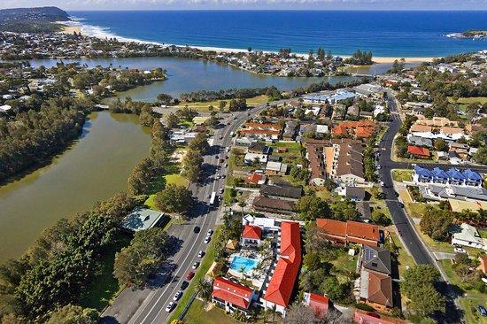 Terrigal Pacific Coastal Retreat: Aerial view of Terrigal Pacifics' location