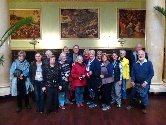 Our group of happy travelers on the 3 day St Petersburg Grand Tour with Alla Tours