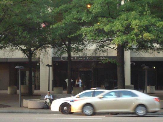 Federal Bureau of Investigation: Entrance of FBI Building.