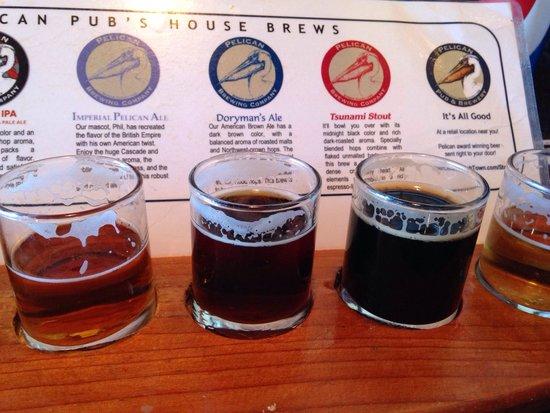 Pelican Pub & Brewery: Birre