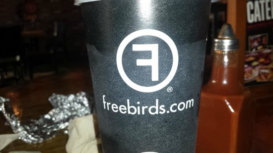 freebirds drink cup logo picture of freebirds world