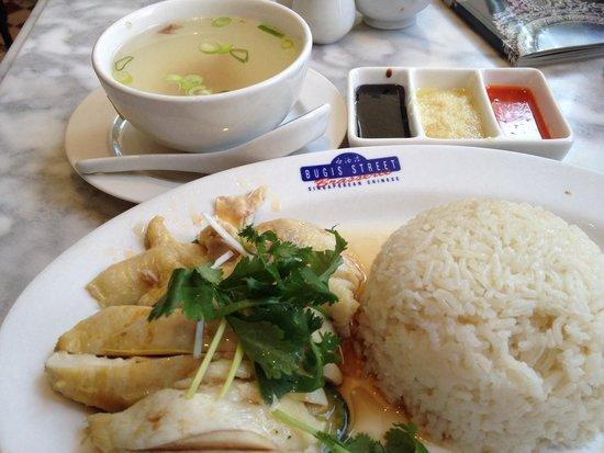 Bugis Street Brasserie: Best chicken rice in London