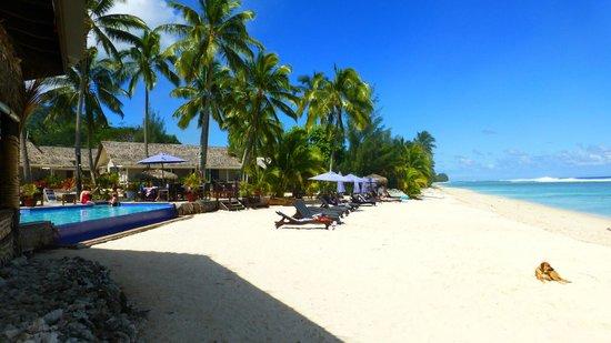 Manuia Beach Resort : Strand