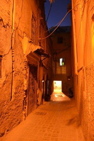 Riad Aloès : La calle de acceso... destila sabor a Marruecos.