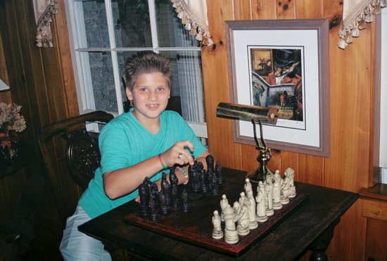 Hendersonville, NC: The Chess Set and game room